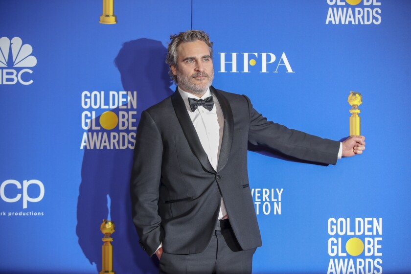 Joaquin Phoenix at the 77th 8乐彩票邀请码en Globe Awards