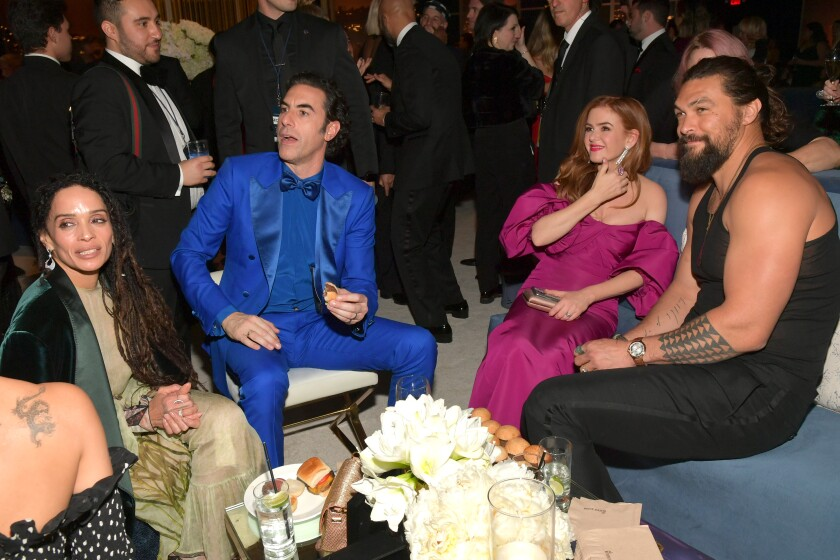 Lisa Bonet, Sacha Baron Cohen, Isla Fisher and Jason Momoa