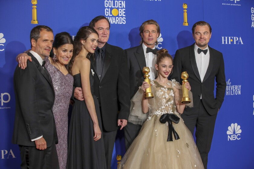 """Once Upon a Time in Hollywood"" filmmakers at the 8乐彩票邀请码en Globes."