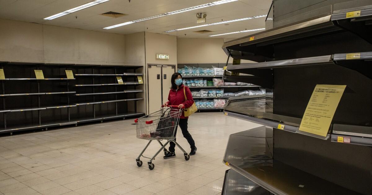 Coronavirus outbreak spurs hoarding in Asia