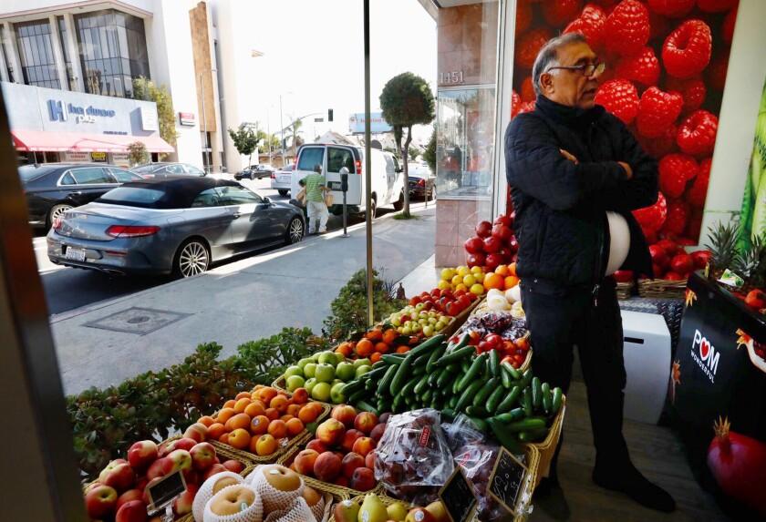 Farid Khanlou, owner of Jordon Market in Westwood,