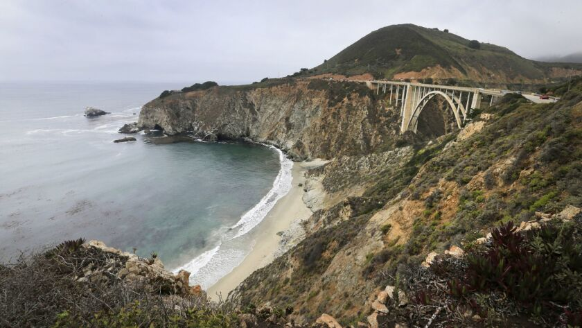 BIG SUR, CA -- TUESDAY, AUGUST 2, 2016: A scenic view of the iconic California coastline gem, the B