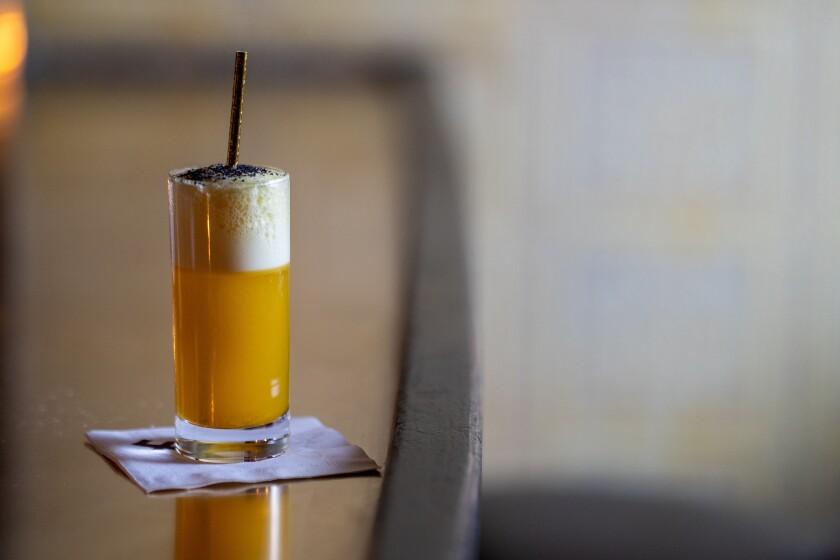 The Szechuan Fizz mocktail at Employees Only in West Hollywood