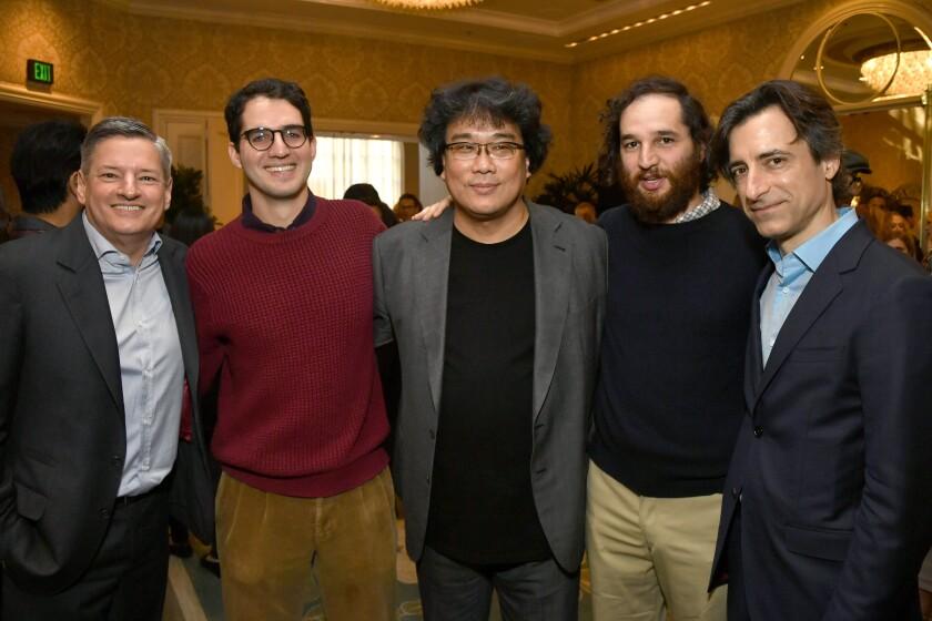 Ted Sarandos, Benny Safdie, Bong Joon Ho, Josh Safdie and Noah Baumbach