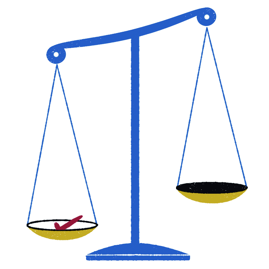 Illustration of the scales of justice