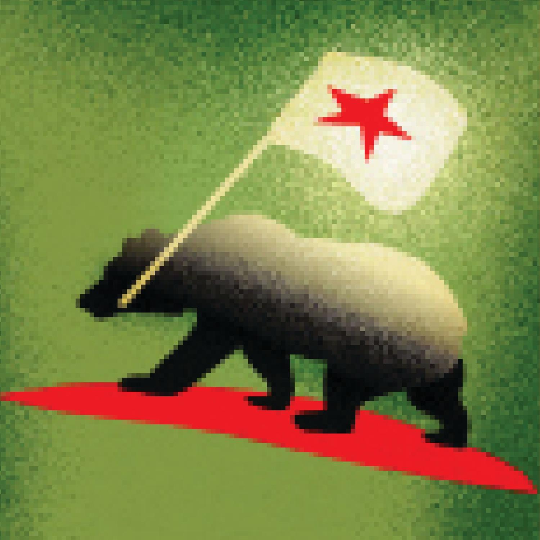 Illustration of California bear