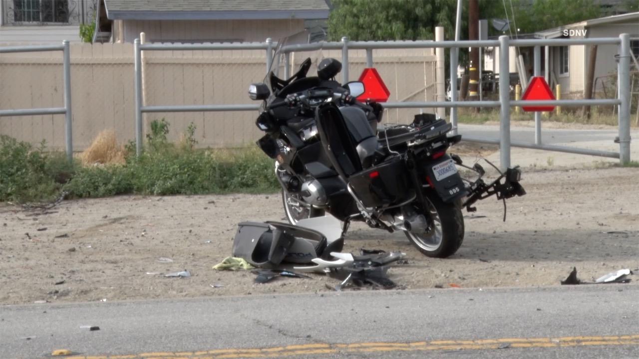 Oceanside police motorcycle officer avoids serious injury in Pala crash