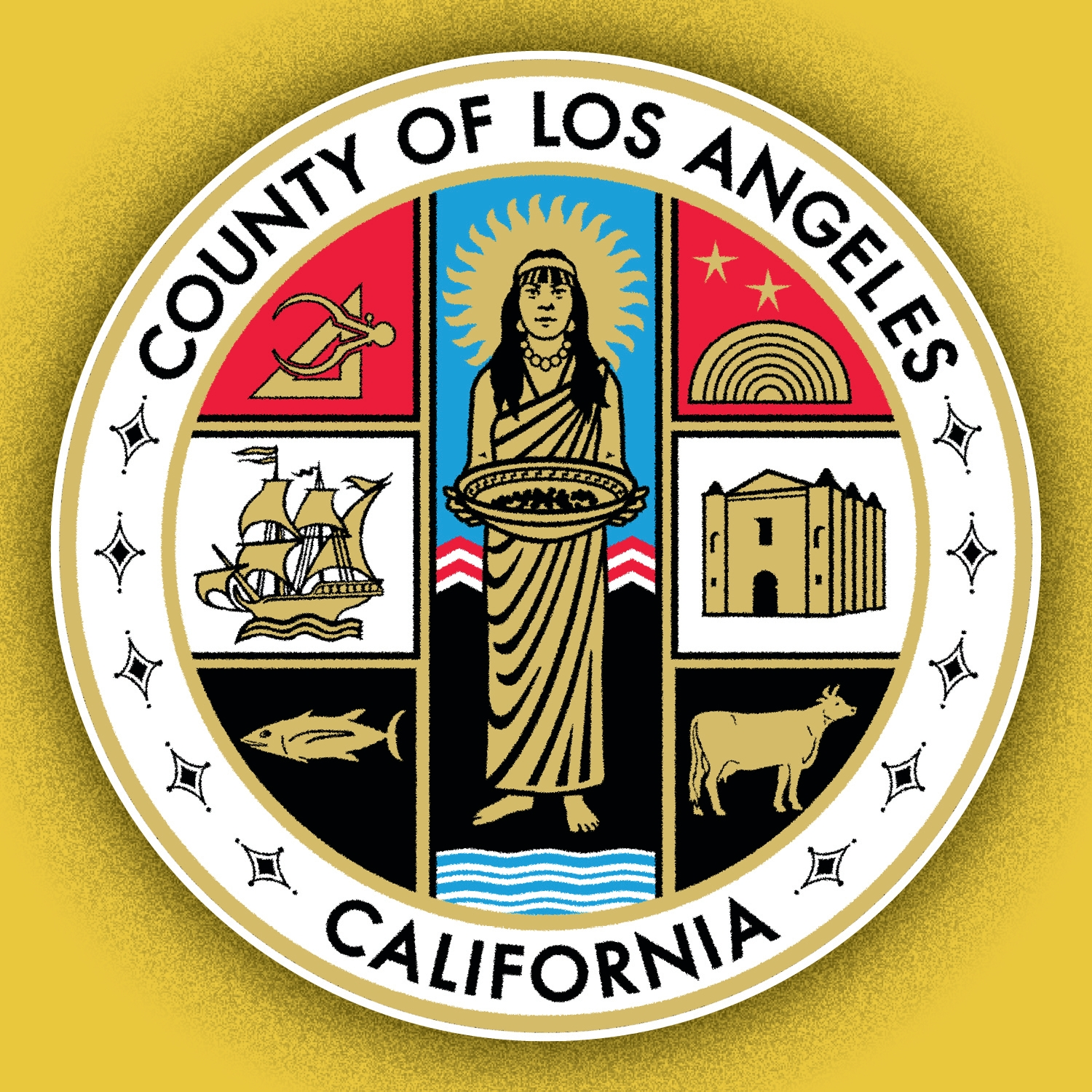 Illustration of L.A. County seal