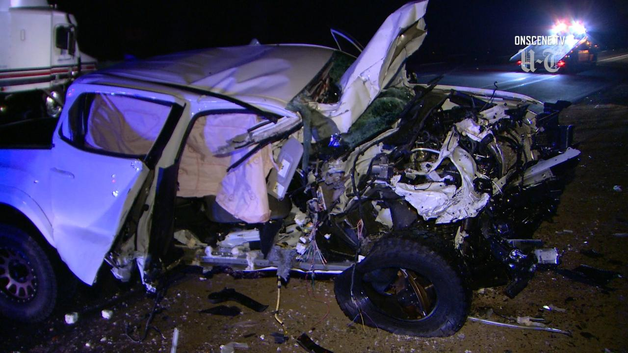 Suspected DUI driver goes wrong way on I-15, slams into oncoming semi