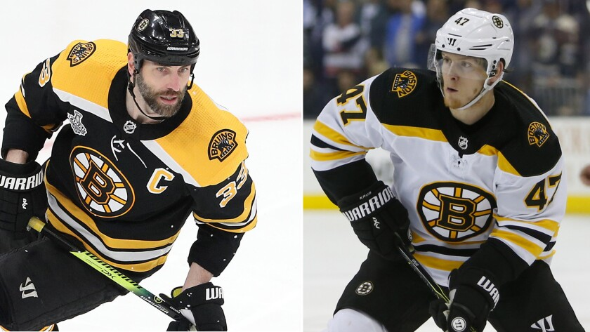 Column Zdeno Chara And Torey Krug Fuel Bruins Stanley Cup Hopes With Size And Tenacity Los Angeles Times