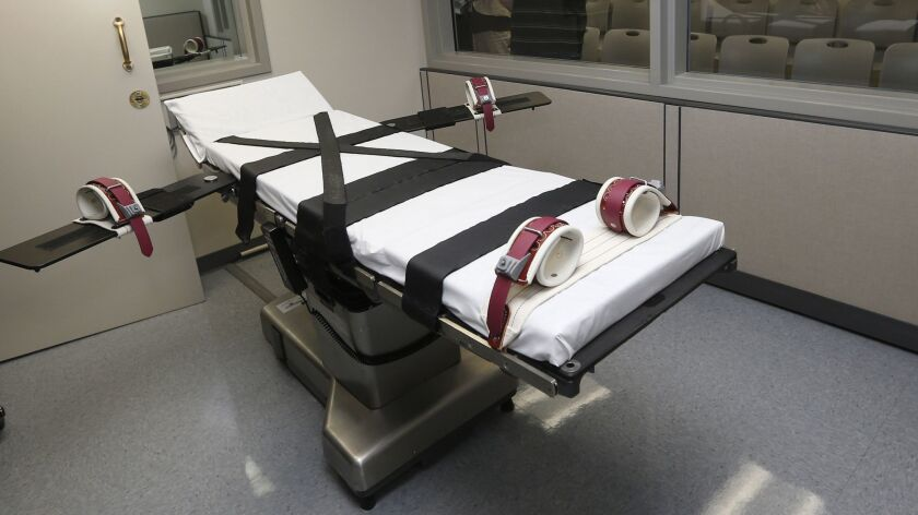 The gurney in the the execution chamber at the Oklahoma State Penitentiary in McAlester, Okla. on Oct. 9, 2014.