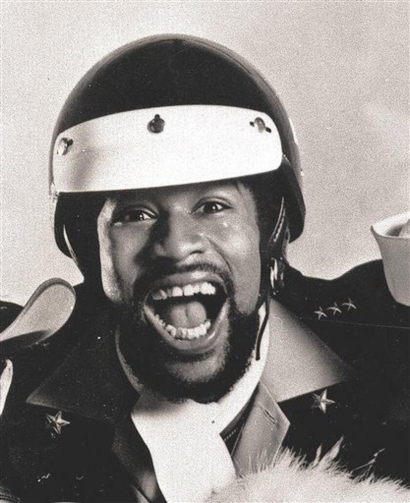 """This 1979 file photo shows Victor Willis of pop group Village People. A U.S. District Court judge in Los Angeles awarded Willis attorney's fees this week following copyright litigation over more than two dozen of the group's songs, including """"Y.M.C.A.,"""" """"Macho Man"""" and """"In the Navy."""" (AP Photo/Cant"""