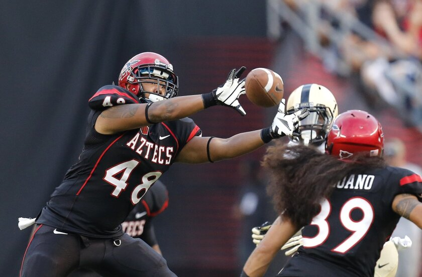 San Diego State junior Josh Gavert has taken over the starting duties at middle linebacker since the Aztecs lost star Jake Fely the rest of the season to a broken foot.