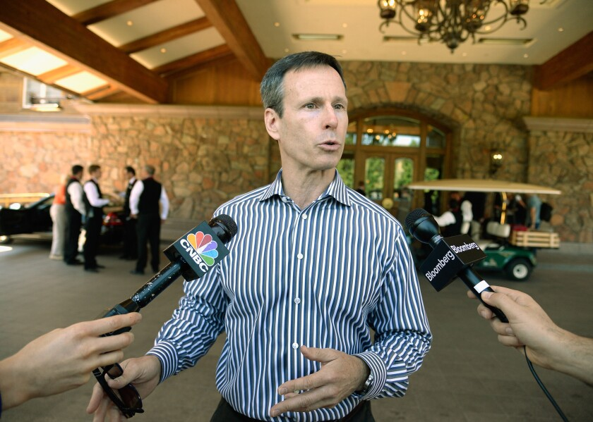Thomas Staggs, shown in 2013, will step down as Disney's chief operating officer on May 6 but remain employed with Disney through the end of the fiscal year, the company said.