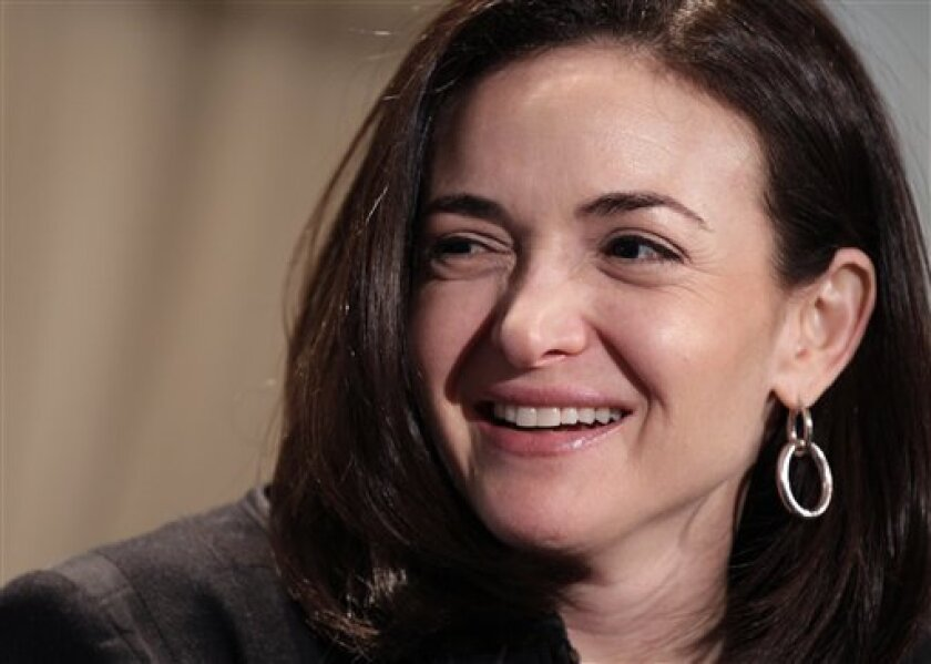 FILE - In this Thursday, April 7, 2011, file photo, Sheryl Sandberg, Facebook's chief operating officer, speaks at a luncheon for the American Society of News Editors in San Diego. In the Pew Research Center study being released Thursday, March 14, 2013 researchers saw a big spike in the share of working mothers who said they'd prefer to work full time; 37 percent said that was their ideal, up from 21 percent in 2007. The poll comes amid a national debate on women in the workplace ignited by San