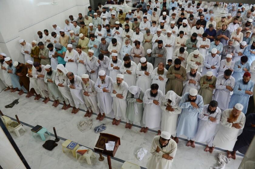 Funeral prayers for Mullah Mohammad Omar