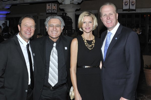 Event co-chair Jeffrey Essakow, CAF co-founder Bob Babbitt, Katherine and SD Mayor Kevin Faulconer