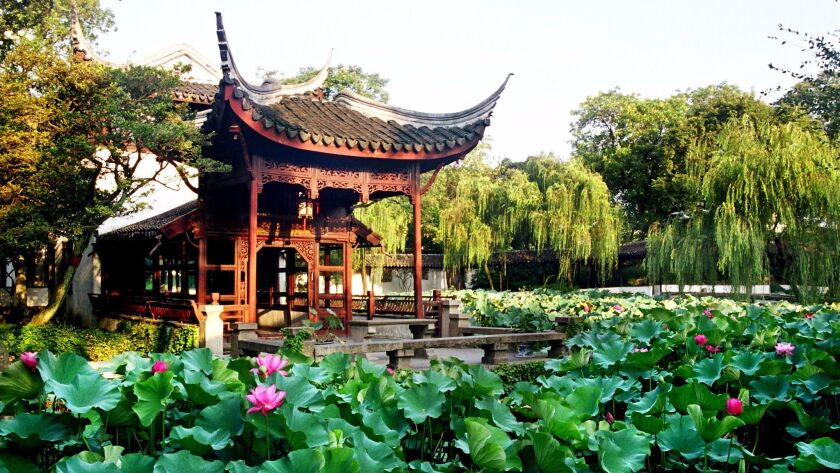 The Humble Administrator's Garden is one of nine in Suzhou designated a UNESCO World Heritage Site.