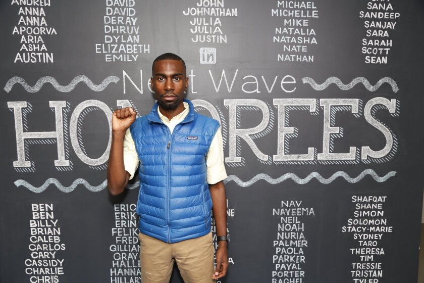 DeRay McKesson attends an event at the the Empire State Building in September.