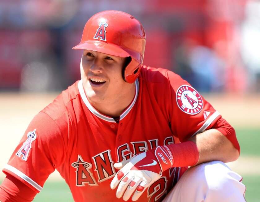Mike Trout, pelotero de los Angels.