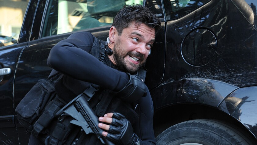 "Dominic Cooper in the movie ""Stratton."""