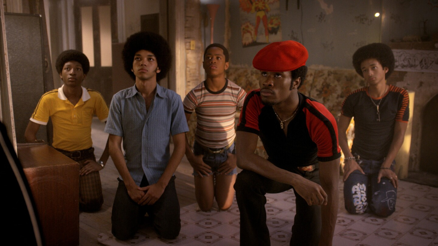 """From left: Skylan Brooks, Justice Smith, Tremaine Brown Jr., Shameik Moore and Jaden Smith in """"The Get Down"""" on Netflix."""