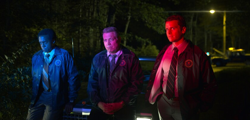 "Albert Jones, Holt McCallany and Jonathan Groff in ""Mindhunter"" Season 2"