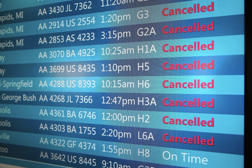 Flight cancellations are harder to fill