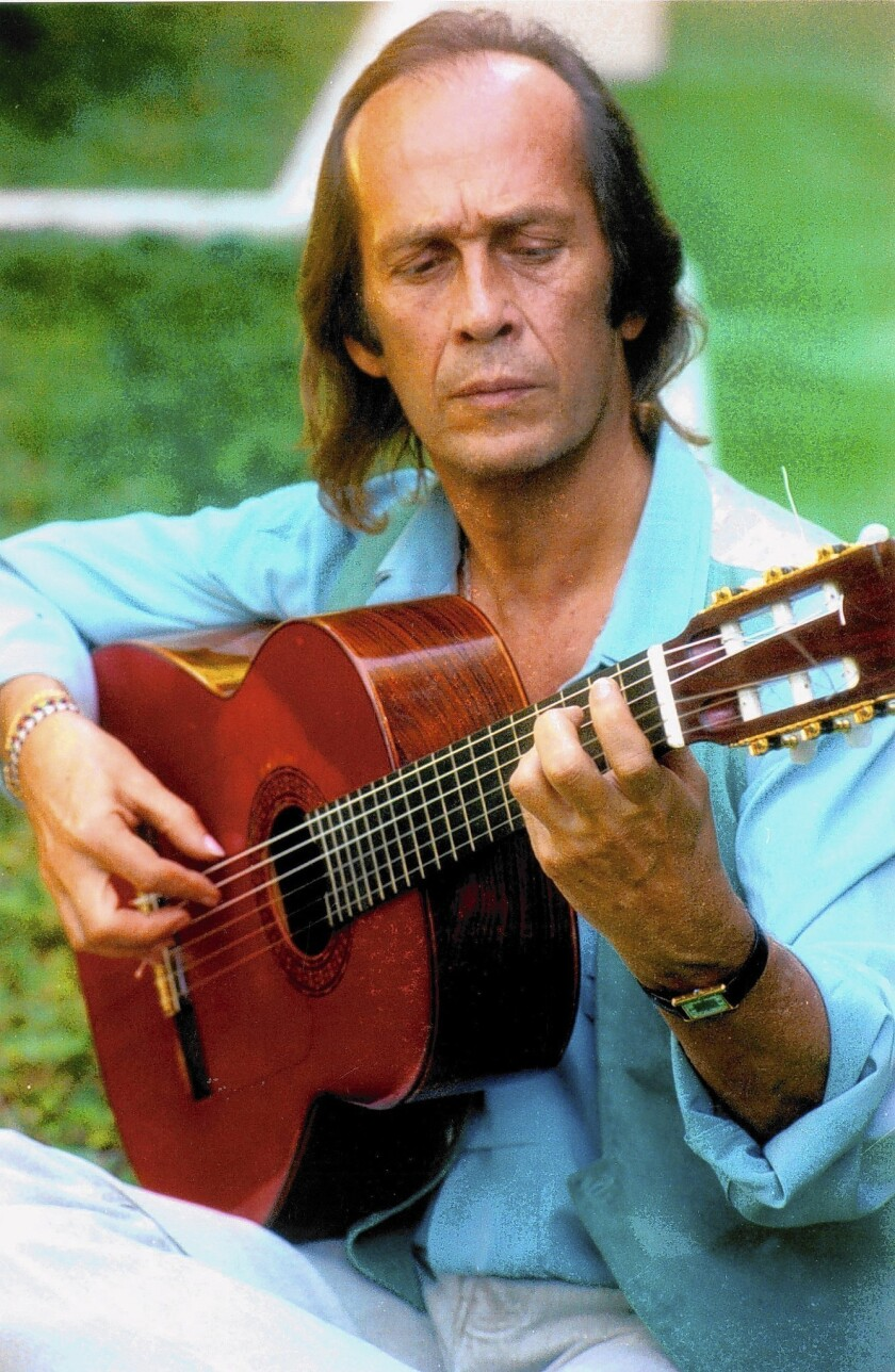 Paco de Lucia, shown in 1993, breathed new life into traditional flamenco music by incorporating influences from other genres. He died Wednesday at 66.