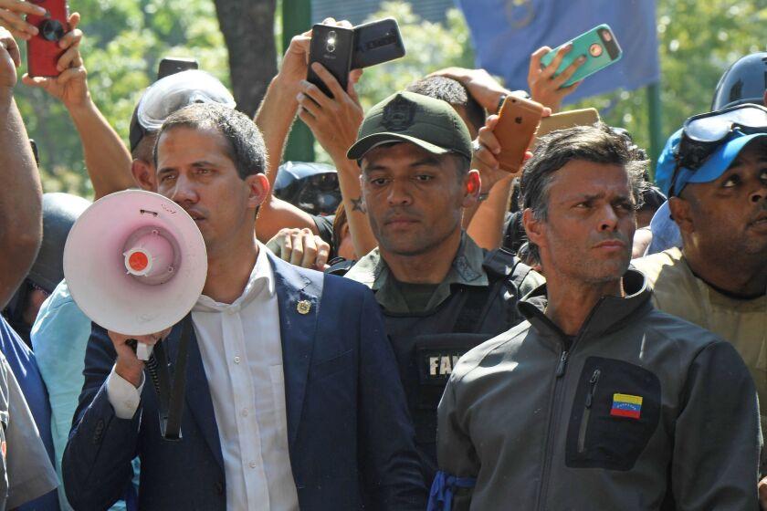 VENEZUELA-CRISIS-CLASHES-GUAIDO-LOPEZ