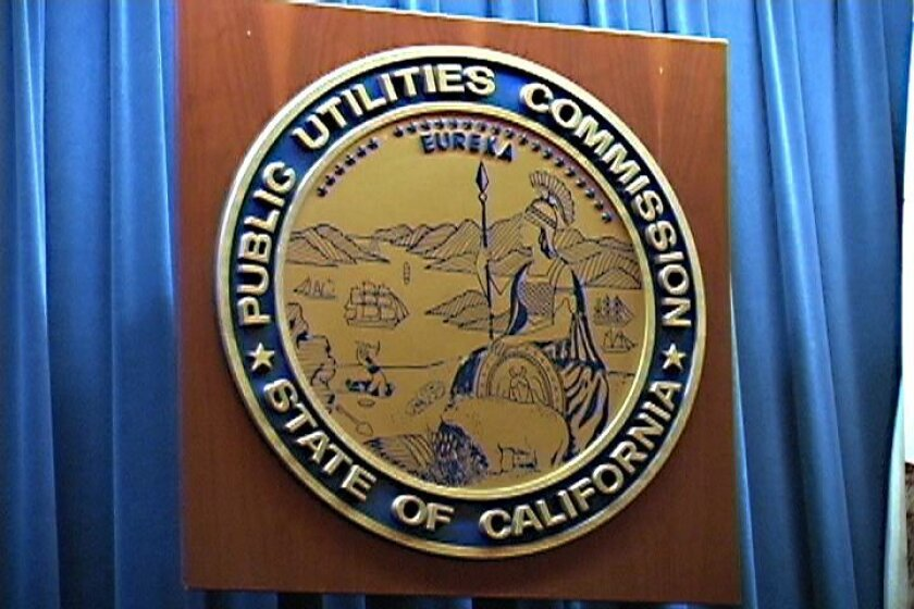 The California Public Utilities Commission sign.