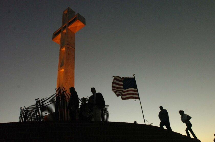 The Mount Soledad cross