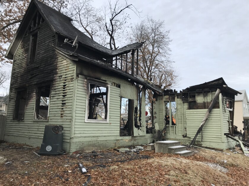 A South Bend home destroyed by fire.