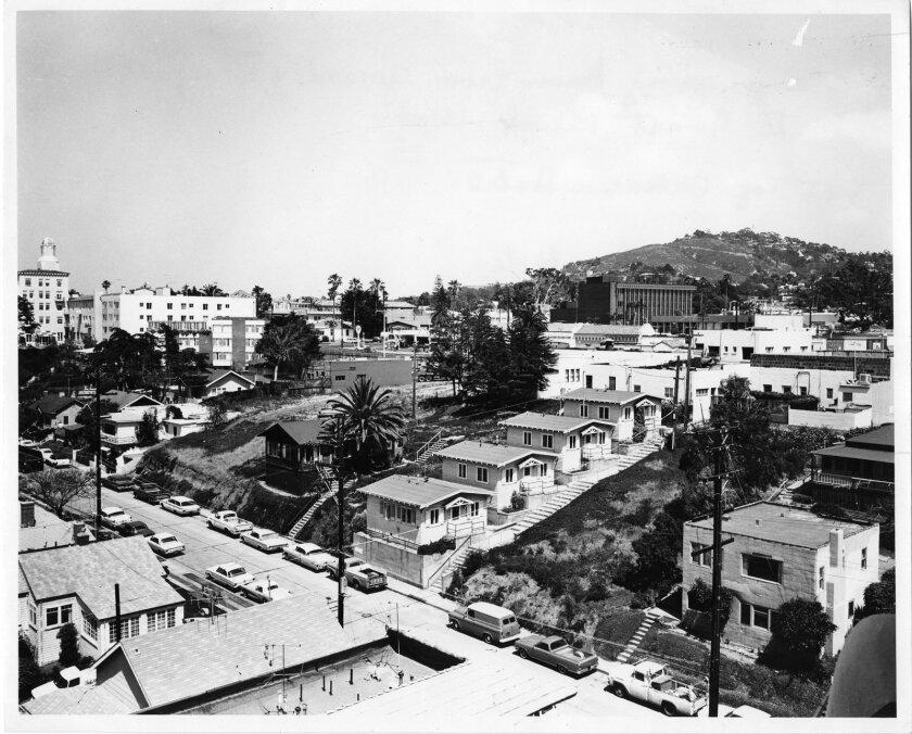 Aerial photo of Ocean Lane circa 1965.