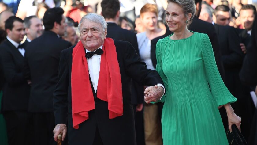 """French director Claude Lanzmann arrives May 19 for the closing ceremony and screening of the film """"The Man Who Killed Don Quixote"""" at the Cannes Film Festival."""