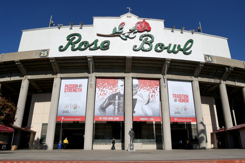 The Rose Bowl in Pasadena could be a potential short-term host for an NFL team while a stadium in being built elsewhere in the L.A. area.