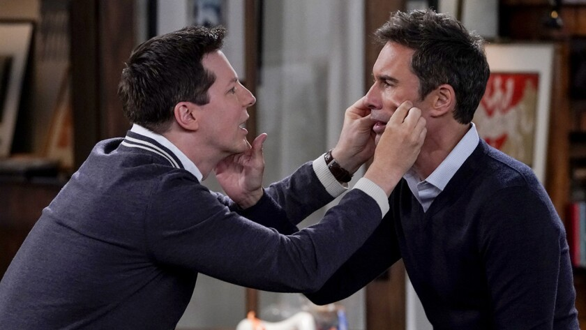 "Sean Hayes, left, and Eric McCormack in ""WIll & Grace"" on NBC."