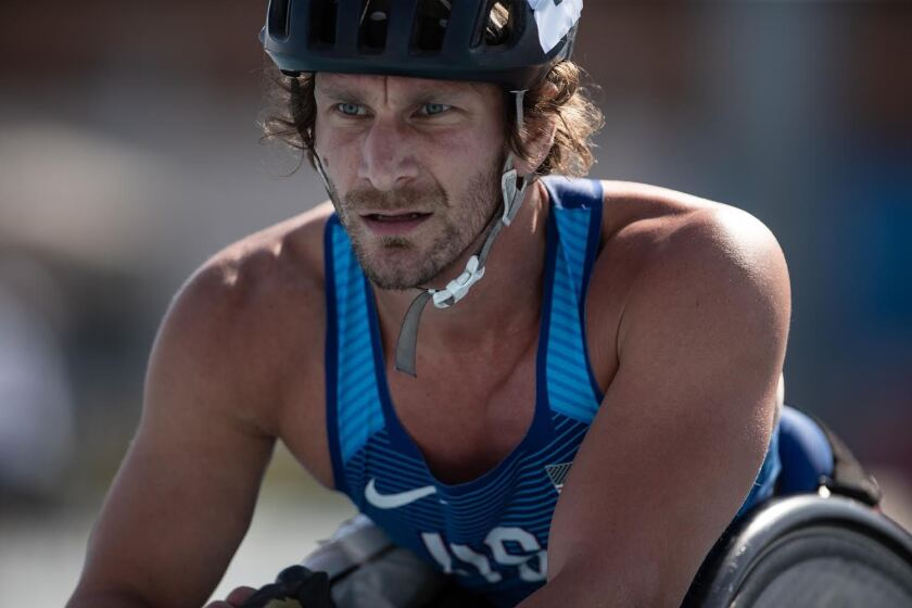 San Diego resident Josh George, 35, is a longtime member of Team USA's wheelchair racing team.