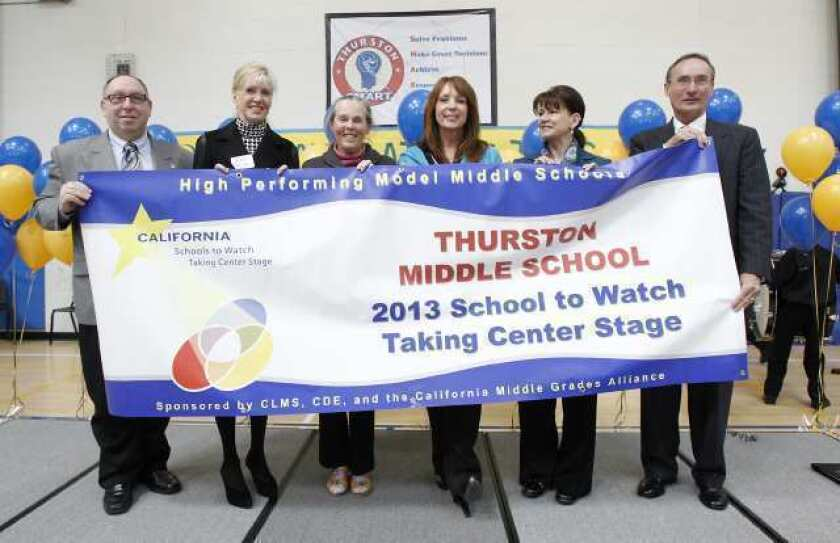 Thurston celebrates Schools to Watch honor