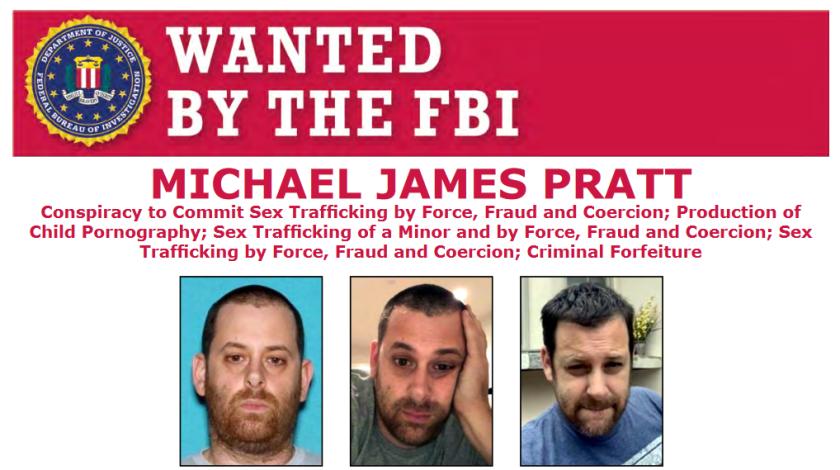 Michael James Pratt of GirlsDoPorn shown in an FBI wanted poster