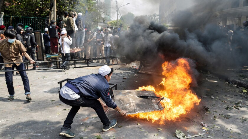 Protests following the announcement of election results in Jakarta, Indonesia - 22 May 2019