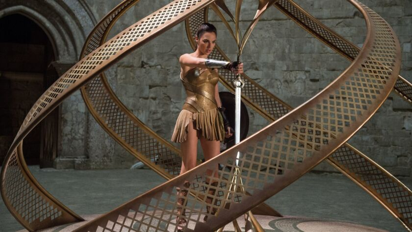 """GAL GADOT as Diana in the action adventure """"WONDER WOMAN,"""" a Warner Bros. Pictures release.Credit: A"""