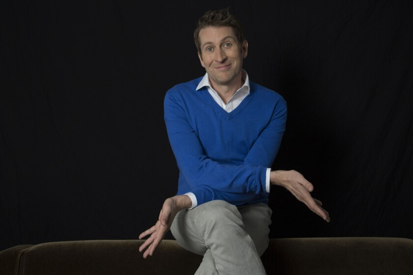 "Scott Aukerman is host of IFC's faux-talk show ""Comedy Bang! Bang!"""