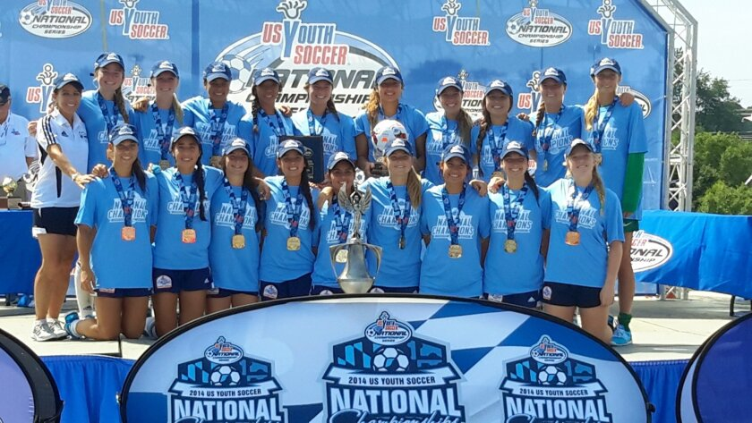 The Del Mar Carmel Valley Sharks will be defending their title in Tulsa from July 20-26 after qualifying in March through National League play in North Carolina and Las Vegas. Courtesy photo