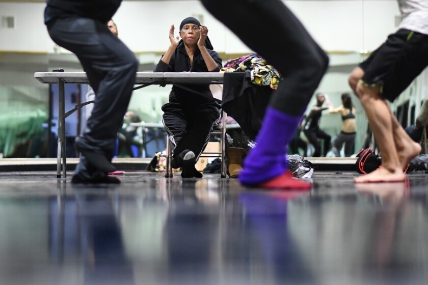 Lula Washington leads a rehearsal at her company space on Crenshaw Boulevard.