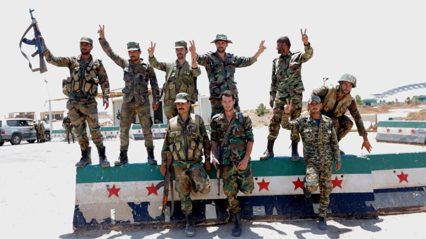 Syrian government forces in Daraa, Damascus, Syria - 07 Jul 2018