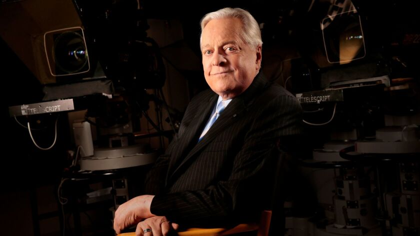 Turner Classic Movies host Robert Osborne in 2013 at the New York studio of HBO. Osborne died Monday at the age of 84.