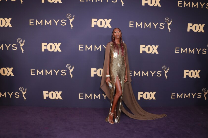 Dominique Jackson arriving at the 71st Primetime Emmy Awards.
