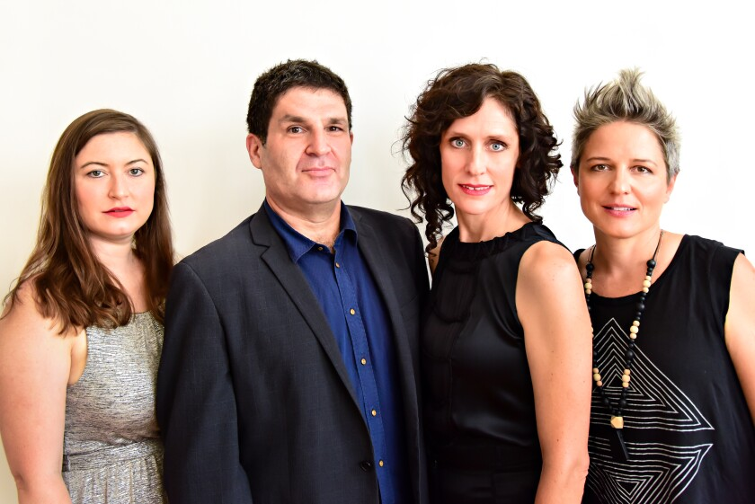 The members of Parlour Game are, from left, pianist Carmen Staaf, bassist Tony Scher, violinist Jenny Scheinman and drummer Allison Miller. The  band was formed in late 2017.