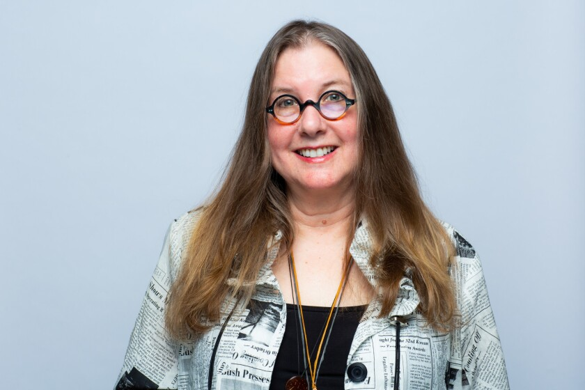 LOS ANGELES, CA --APRIL 13, 2019 -- Author Janet Fitch is photographed in the L.A. Times Festival of